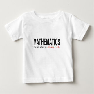 Mathematics _ my family tree has square roots_blk t shirt
