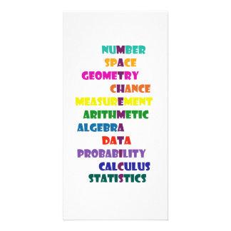 Mathematics Custom Photo Card