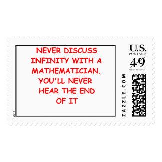 mathematics postage stamp