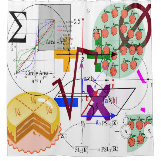 Mathematics Question Shower Curtain