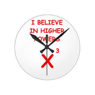 mathematics round clock