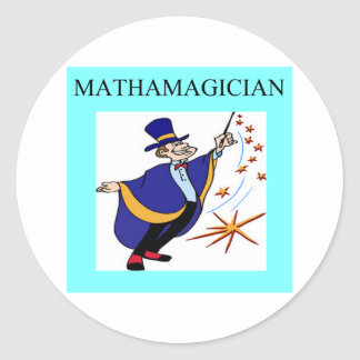 mathematics rules classic round sticker