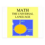 mathematics rules postcard