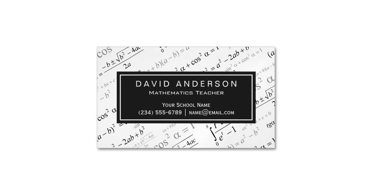 Math Business Cards & Templates | Zazzle