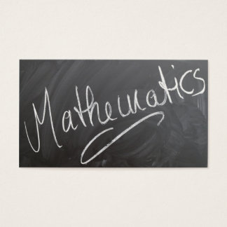 Mathematics Tutor Chalkboard - Business Card