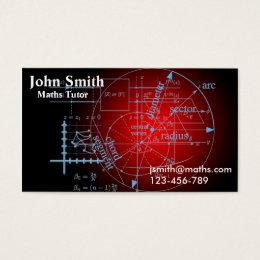 Mathematics tutor or teacher stylish advanced math business card