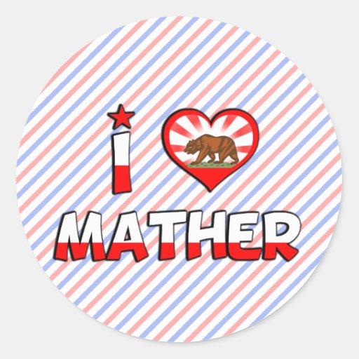 Mather, CA Round Sticker