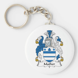 Mather Family Crest Keychain
