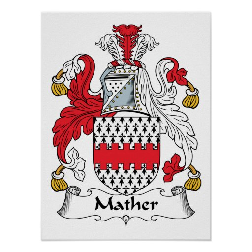 Mather Family Crest Poster