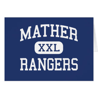Mather - Rangers - High School - Chicago Illinois Greeting Card