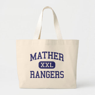 Mather - Rangers - High School - Chicago Illinois Large Tote Bag