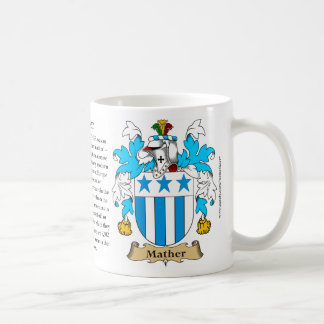 Mather, the Origin, the Meaning and the Crest Coffee Mug