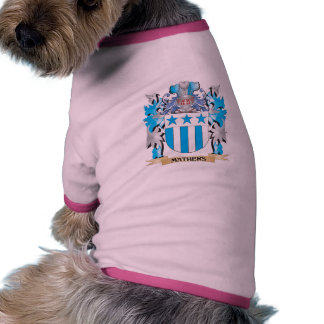 Mathers Coat of Arms - Family Crest Pet T-shirt