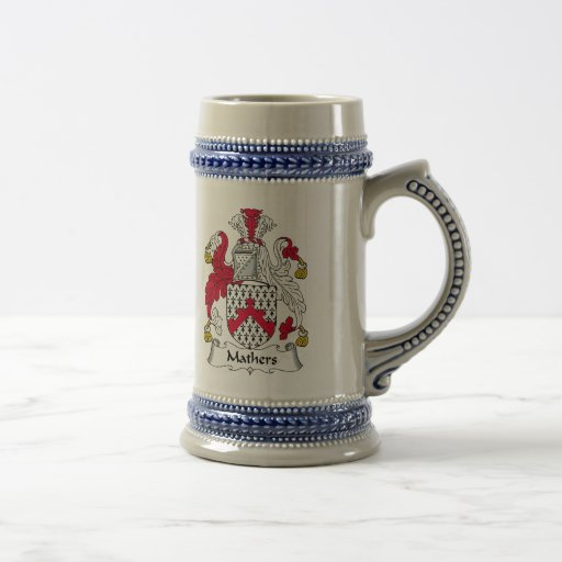 Mathers Family Crest 18 Oz Beer Stein