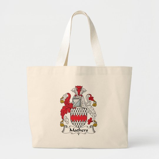Mathers Family Crest Large Tote Bag