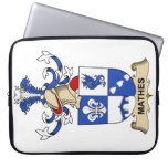 Mathes Family Crest Computer Sleeve