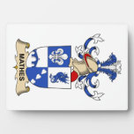 Mathes Family Crest Display Plaque