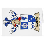 Mathes Family Crest Greeting Card