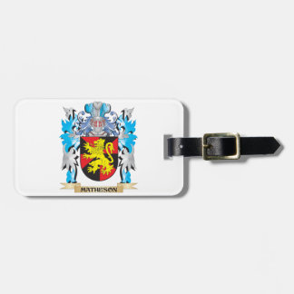 Matheson Coat of Arms - Family Crest Tags For Luggage