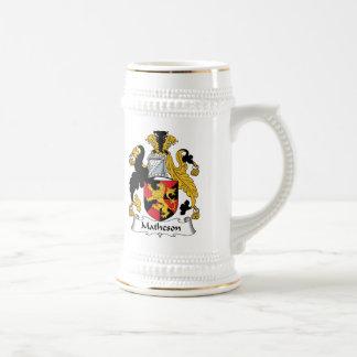 Matheson Family Crest 18 Oz Beer Stein