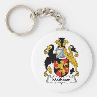Matheson Family Crest Basic Round Button Keychain