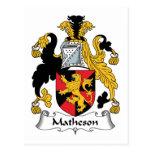 Matheson Family Crest Postcard
