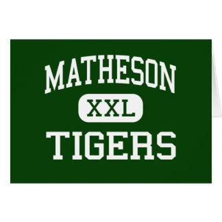 Matheson - Tigers - Junior - Magna Utah Greeting Card