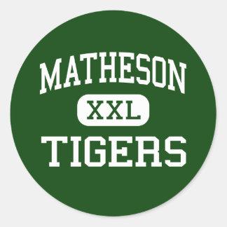 Matheson - Tigers - Junior - Magna Utah Round Stickers