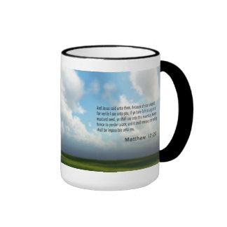 Mathew 17 : 20 ringer coffee mug