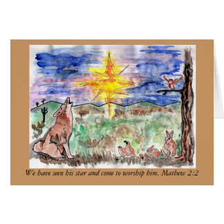 Mathew 2:2 Chistmas Star Greeting Card