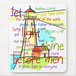 Mathew 5:14-16 Lighthouse 1 Mouse Pad