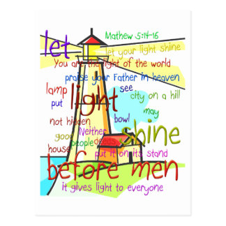 Mathew 5:14-16 Lighthouse 1 Postcard