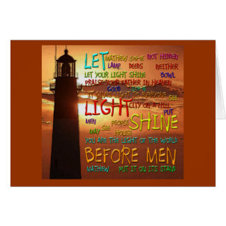 Mathew 5:14-16 Lighthouse 2 Cards