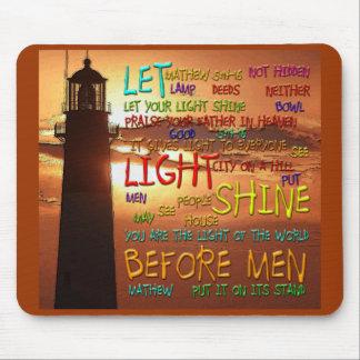 Mathew 5:14-16 Lighthouse 2 Mouse Mats