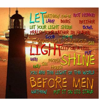 Mathew 5:14-16 Lighthouse 2 Photo Cut Outs