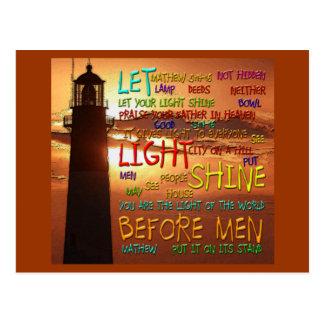 Mathew 5:14-16 Lighthouse 2 Post Cards