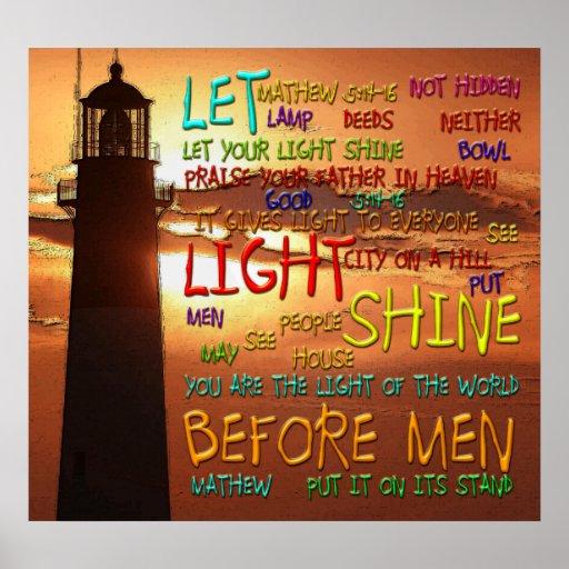 Mathew 5:14-16 Lighthouse 2 Poster