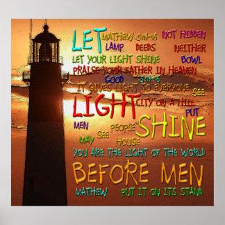 Mathew 5:14-16 Lighthouse 2 Posters