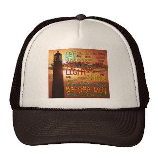 Mathew 5:14-16 Lighthouse 2 Trucker Hat