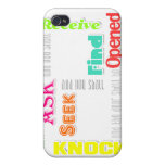 Mathew 7 verse 7 case for iPhone 4
