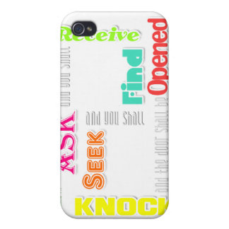 Mathew 7 verse 7 iPhone 4 covers