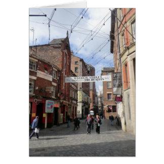 Mathew Street in Liverpool Card
