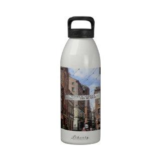 Mathew Street in Liverpool Water Bottle