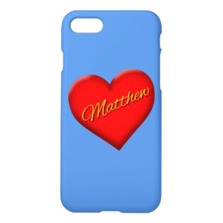 Mathew with Heart iPhone 7 Case