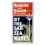 Mathews and Bulger, 'By the sad sea waves' Retro T Postcard
