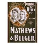 Mathews and Bulger Vintage Theater Postcard