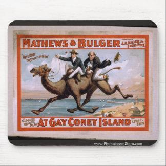 Mathews & Bulger, 'At Gay Coney Island' Vintage Th Mouse Pad