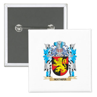 Mathias Coat of Arms - Family Crest Pins