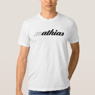 Mathias Tee, White Cal! Tee Shirt
