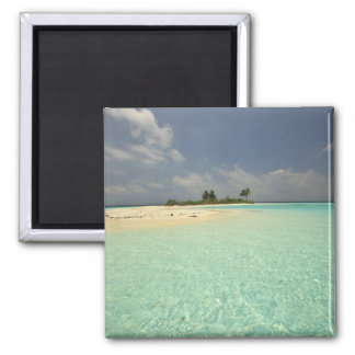 Mathidhoo Island, uninhabited, North Huvadhoo 2 Inch Square Magnet